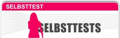 Screenshot des Online-Selbsttestes als Symbolbild mit Link im Text.