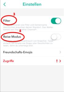 Snapchat Einstellungen2